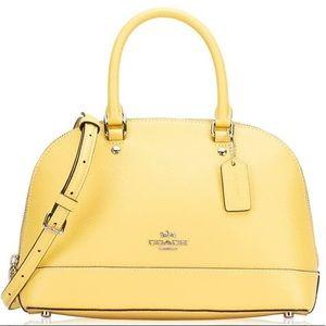 Coach NWT Light Yellow Mini Satchel/Crossbody Bag